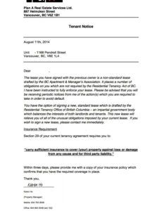 Free Tenant Eviction Notice Letter Template Word Example