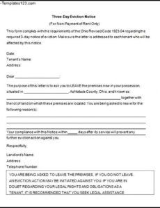 Tenant Eviction Notice Letter Template Doc