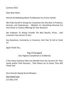 Best Welcome Letter Template New Customer Pdf Example