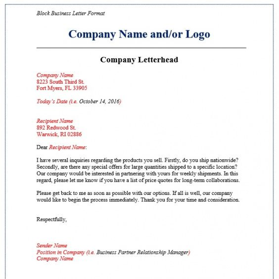 Best Welcome To My Business Letter Template  Example