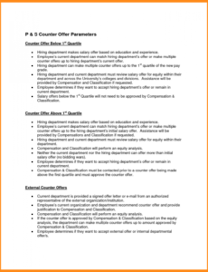 Costum Employment Counter Offer Letter Template  Sample