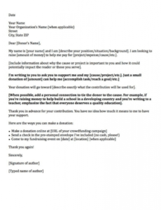 Donation Request Letter Template For Food Excel