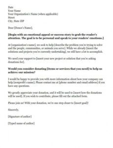 Donation Request Letter Template For Food Word Example