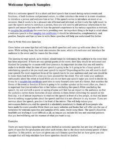 Free Conference Welcome Letter Template Pdf