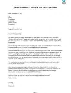 Free Donation Request Letter Template For Food Doc Sample