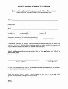 Free Pay Increase Letter Template Doc Sample
