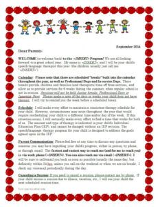 Free Preschool Welcome Letter To Parents From Teacher Template Word Sample