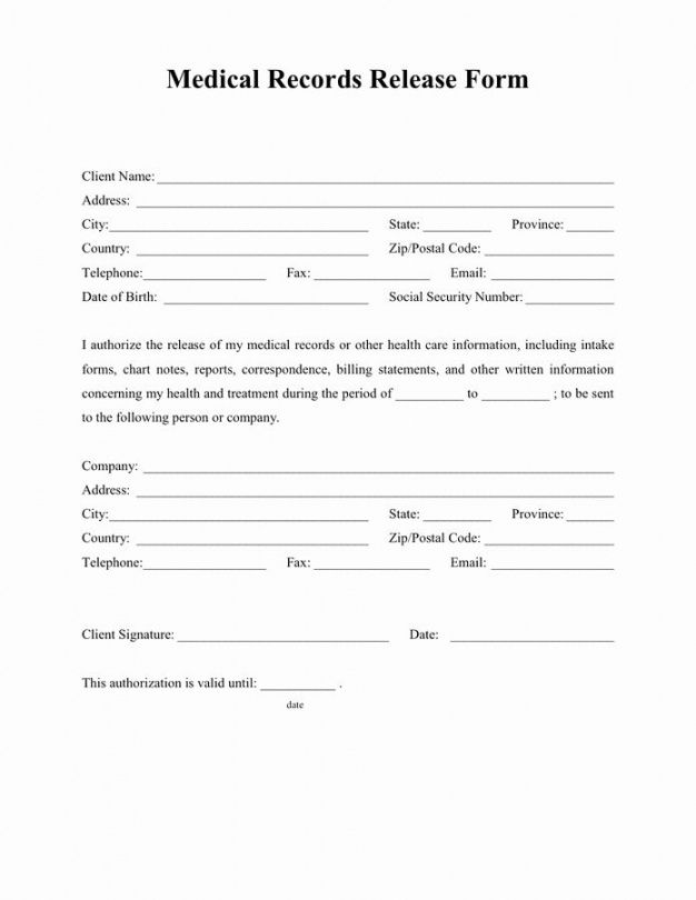 Free Request For Medical Records Template Letter Doc Sample