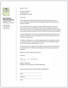 Home Buying Offer Letter Template Pdf Example