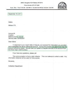 Printable Pay For Delete Letter Template Excel Sample