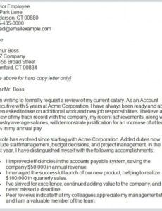 Printable Pay Increase Letter Template Excel Example