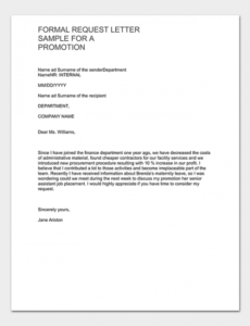 Promotional Letter Template Word Sample