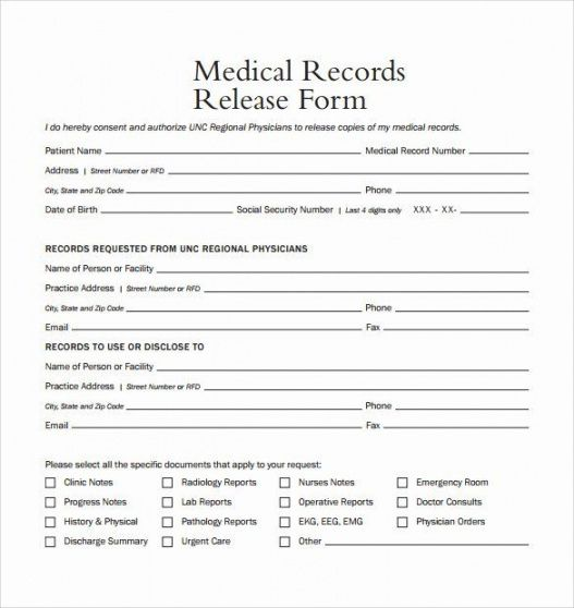 Request For Medical Records Template Letter  Example