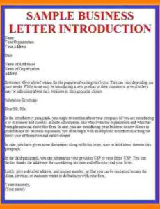 Welcome To My Business Letter Template Pdf Sample