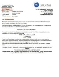 Costum Debt Recovery Letter Template Doc Example