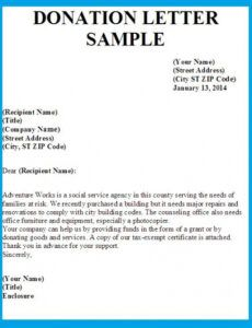 Costum Donor Request Letter Template Pdf Example
