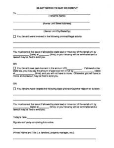 Editable Roommate Eviction Letter Template  Example