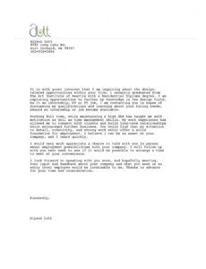 Free Certified Letter Template  Example