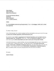 Free Hardship Letter For Mortgage Modification Template Doc Example