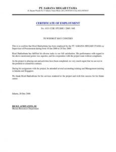 Professional Certified Letter Template Doc