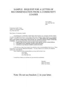 Free Sorority Recommendation Letter Template