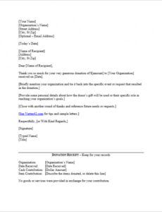 Printable Car Donation Letter Template Word