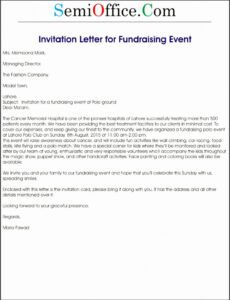 Professional Fundraiser Donation Letter Template Excel Example