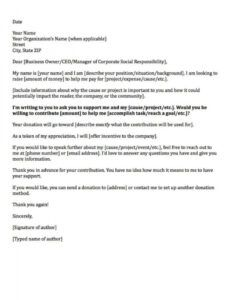 donation request letters asking for donations made easy! personal fundraising letter template sample