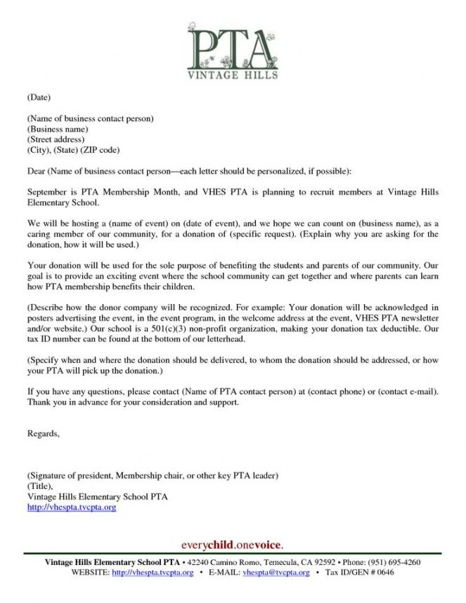 editable business donation letter template vhes pta donation pta fundraising letter excel