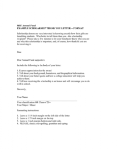 editable example scholarship thank you letter in word and pdf formats scholarship fundraising letter word