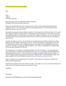 editable mission trip letter template examples  marital alumni fundraising letter excel