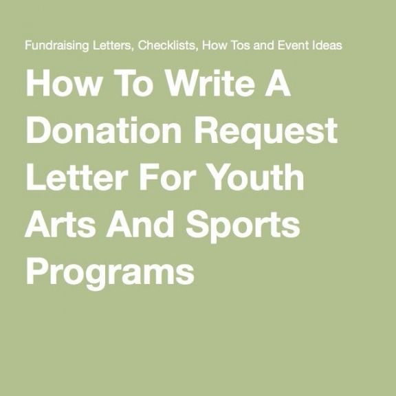 free how to write a donation request letter for youth arts and youth sports fundraising letter sample