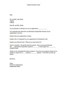 free in kind donation letter template examples  letter personal fundraising letter template doc