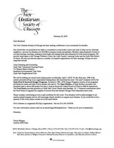 merchants' donation letter  first unitarian church of chicago church building fundraising letter sample