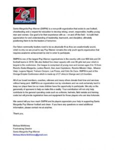 printable how to do a sponsorship in smpw youth sports fundraising letter example