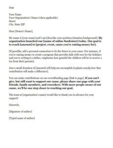 printable sample letter asking for donations for funeral expenses fundraising event donation letter example